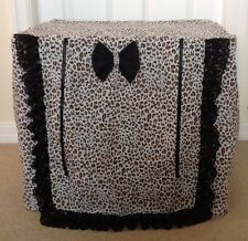PUPPY/DOG CRATE LEOPARD PRINT COVER / MADE TO ORDER.