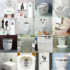 DIY Toilet Seat Wall Sticker Art Decals Vinyl Wallpaper Removable Bathroom Decor