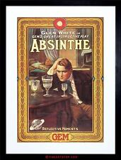 THEATRE AD STAGE PLAY ABSINTHE ALCOHOL DRINK FRAMED PRINT F12X2455
