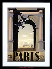 TRAVEL TOURISM PARIS FRANCE OBELISK PLACE DE LA CONCORDE FRAMED PRINT F12X7123