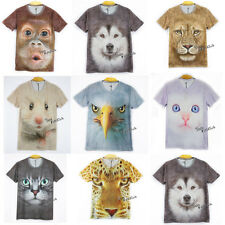 3D T-Shirts Animal Tiger Wolf Tee Round Printed Pattern Tops Hot Sale Clothing