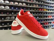 Mens Adidas Stan Smith Originals Classic Sneakers New, Red Suede M21283