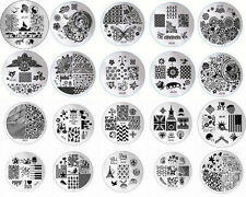 New 1pcs Nail Art Stamp Steel Print Design Metal Plate Manicure Template DIY Hot