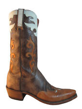 Lucchese Men's Cowboy Boots 1883 N9516.54 Distressed Antique Brown