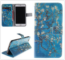 New Apricot Blossom Tree Wallet Case For Apple/Samsung/Sony/Alcatel/LG/HTC/Nokia