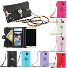 Bling Shoulder bag handbag Leather Wallet Flip Cover Case For Samsung Galaxy