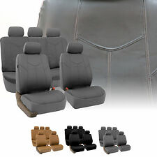 Rome PU Leather Car Seat Covers Full Set Air Bag Safe & Split Bench Ready