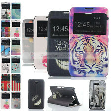 Luxury Painted Windows Leather Stents Cover Case Skin for Sony Xperia E4 /E4g
