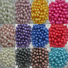 Wholesale Glass Pearl Round Spacer Loose Beads Charms Finding 4/6/8/10/12 MM DIY