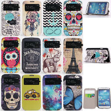 Handy Window View Flip Cover Leather Stand Wallet Case for Samsung Galaxy S4