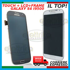 TOUCH SCREEN +LCD +FRAME + TASTO HOME SAMSUNG GALAXY S4 IV DISPLAY  i9500