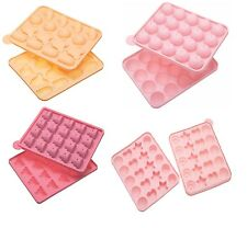 KITCHEN CRAFT SWEETLY DOES IT 20 HOLE ASSORTED SHAPES SILICONE CAKE POP MOULDS