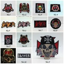 Slayer Sew On Patch Logo Rock Band Metal Heavy Iron Embroidered Applique Badge