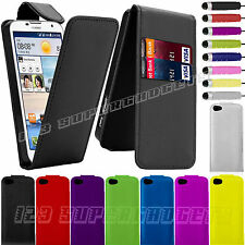 Pu Leather Top Flip Case Cover For Huawei Mobile Phones + Stylus Pen
