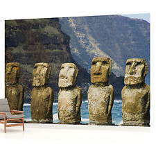 Easter Island Moai Landscape  PHOTO WALLPAPER WALL MURAL PICTURE (W1282P)