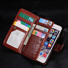 """Luxury 9 Card slot Leather Wallet Case Flip Cover For Iphone 6 4.7""""& 6 Plus 5.5"""""""