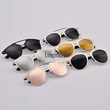 Hot Fashion Women's Retro Dual Horizontal Beam Full Frame Sunglasses LM
