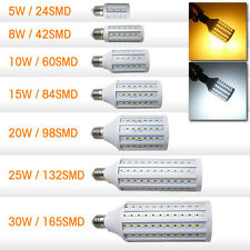 LED Corn Light Bulb E27 E26 110V 220V 30W 5630 SMD 2400LM White Lamp 360 degree