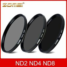 ZOMEI 52/55/58/62/67/72/77/82mm ND2 ND4 ND8 Neutral Density Lens Filter Kit