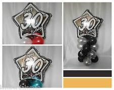 NEW 30th BIRTHDAY PARTY AGE 30 BALLOON DECORATION TABLE CENTRE PIECE DISPLAY