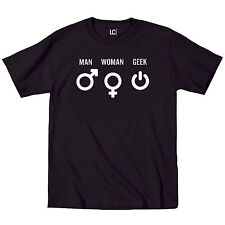 Man Woman Geek Symbols Tech Funny Gift Nerd Science Math Humor - Mens T-Shirt