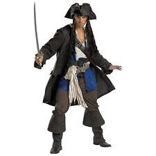 Captain Jack Sparrow Costume Adult Pirate Halloween Fancy Dress