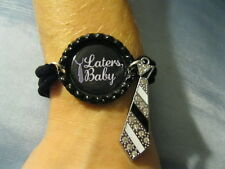 New 50 Shades of Grey Themed Nylon Bottlecap Hand Made Bracelets Your Choice