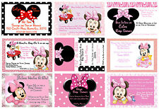 Minnie Mouse Personalised Baby Shower its a girl invite UNLIMITED PRINTS & DISC