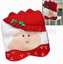 Household Women Face Christmas Decorations Kitchen Table Chair Covers Case Tool