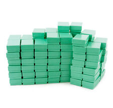 LOT OF 12~25~50~100 TEAL GREEN COTTON FILLED BOX MIXED JEWELRY BOXES GIFT BOXES