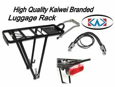 "Heavy Duty Bike Bicycle Rear Luggage Rack Carrier Pannier 26 27"" Light Strap Set"