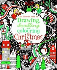 NEW Drawing, Doodling & Colouring: Christmas by Fiona Watt Paperback Book (Engli