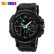 SKMEI 50M Waterproof LED Dial Digital Wrist Watch Rubber Band Mens Boy Gifts 913