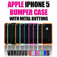 Apple iPhone 5s 5 Bumper Rim Ultra-Thin Slim Protective Case+Metal Buttons Cover