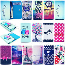Stylish Universal Wallet Card Flip Leather Case Cover For Various Samsung Phone