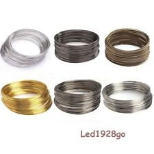 2015 Hot Silver/Gold Plated Memory Steel Wire Cuff Bangle Bracelet 100/500 Loops