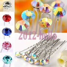 10pcs Clear Crystal Rhinestone Diamante Hair Pins Bridal Party Wedding Gifts