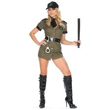 Police Woman Costume Adult Weed Cop Outfit Funny Halloween Fancy Dress