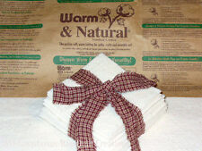 10 inch Warm and Natural Quilt Batting Squares for Rag Quilting