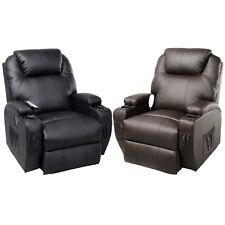 Ergonomic Heated Massage Recliner Sofa Chair Deluxe Lounge Executive w/ Control