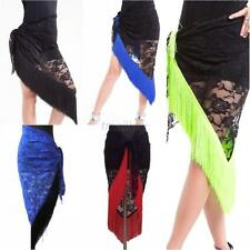 New Belly Dance Costume Tribal Tassels Lace Triangle Hip Scarf wrap Belt 8 color