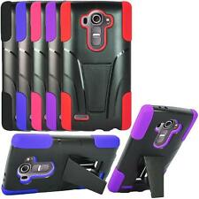 LG G4 Hybrid Rugged Cover Case with Kickstand