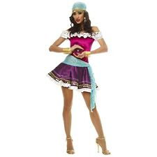 Gypsy Fortune Teller Costume Adult Halloween Fancy Dress