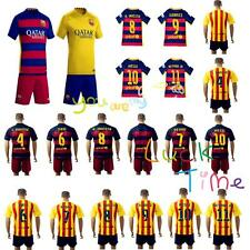 2015-16 Football Soccer Sportwear Short Sleeve Kid boy Youth 3-14Y Team Suit kit
