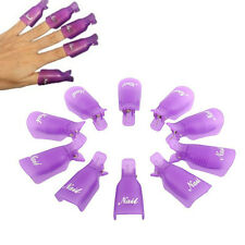 10pc/lot Plastic Nail Tools Acrylic Nail Art Soak Off UV Gel Nail Polish Remover