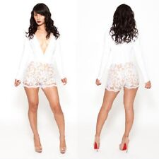 Women's Sexy Lace Club Bandage Bodycon Jumpsuits Cocktail Party Clubwear Dress U