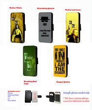 Breaking Bad logo quotes leather phone case iPhone,Samsung,HTC,Sony Xperia,LG