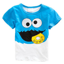 Baby Kids Children Summer Beach Clothing Short Sleeve Cotton T-shirt Outfits1~6Y