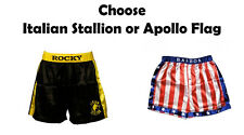 Adult Movie Rocky Balboa American Flag OR Italian Stallion Boxing Costume Shorts