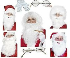 Santa Claus Beard Father Christmas Wig Glasses Gloves Xmas Beards Wigs